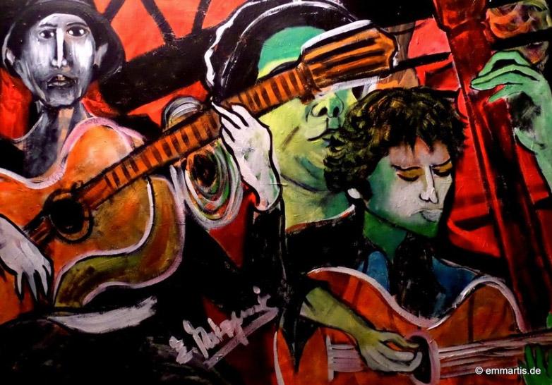 Bagdad Balkan Berlin beats Branko Galoic, Painting E. Makrogiannis